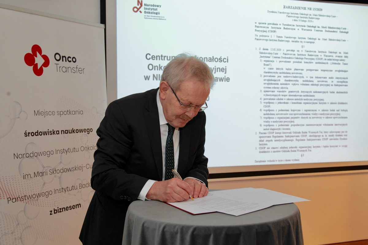 Powstało pierwsze w Polsce Centrum Doskonałości Onkologii Precyzyjnej